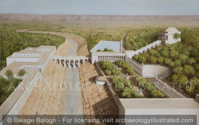 Jericho, Herod's Winter Palace, 1st Century BC, Looking East - Archaeology Illustrated