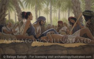 Kadesh Barnea in the Sinai. Israelites Hanging out in the Heat of the Day During Exodus - Archaeology Illustrated