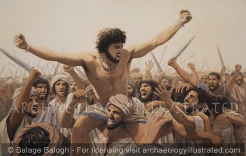King David and his Troops After a Battle with the Philistines - Archaeology Illustrated