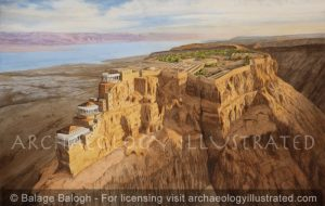 Masada, the Desert Fortress of Herod the Great by the Dead Sea, 1st Century BC-AD, Looking Southeast - Archaeology Illustrated