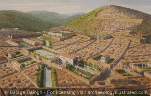 Pergamon, The Lower City with the Great Temple of Isis and Serapis Built over the River, 2nd century AD - Archaeology Illustrated