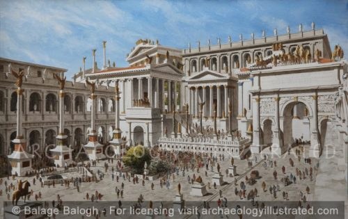 Roman Forum, 3rd-4th century AD - Archaeology Illustrated