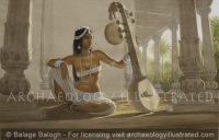 Ancient India, The Chitraveena Player of Gandhara, Kushan Period - Archaeology Illustrated