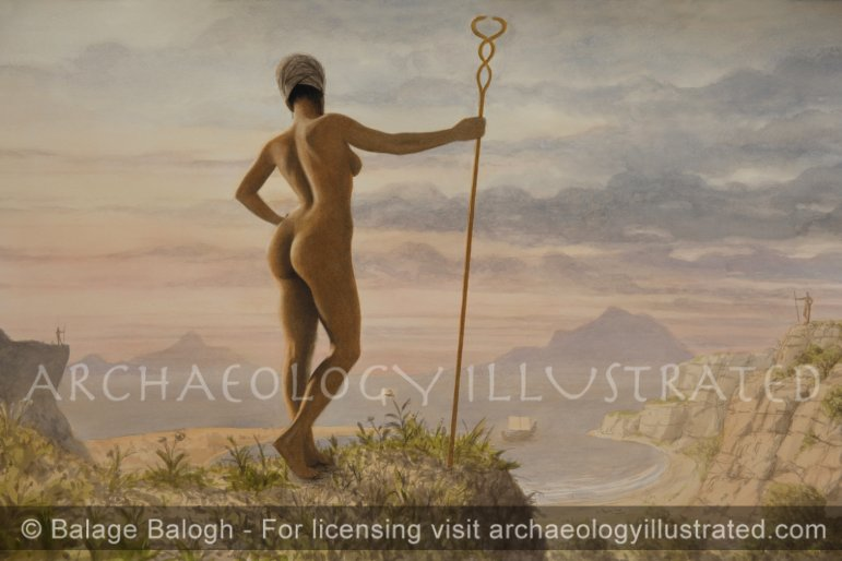 I've decided I'm going to have all kinds of art on my website. What do you think? Craftsmanship. Anatomy. Title: Sentinels - Archaeology Illustrated