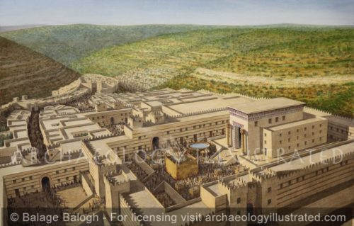 Jerusalem, Temple of Solomon, Aerial View Looking South, 10-9th centuries BC - Archaeology Illustrated