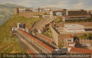 Pergamon, The Acropolis in the Roman Period, Close up View, 2nd Century AD - Archaeology Illustrated
