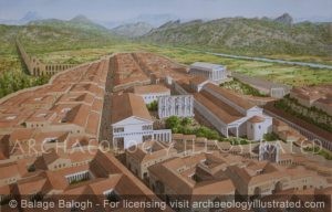 Aspendos in the Roman Period, Southern Turkey, Looking North - Archaeology Illustrated