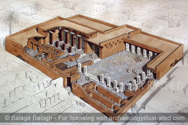 Ekron, The Philistine City's Central Temple, created with Dr. Sy Gitin, 7th century BC - Archaeology Illustrated