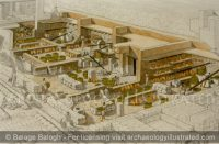 Ekron, The Philistine City's Olive Oil Pressing Installations by the City Gate, created with Dr. Sy Gitin, 7th century BC - Archaeology Illustrated