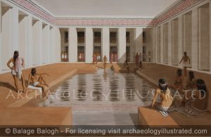 Indus Valley Civilization: Mohenjo Daro, The Great Bath, around 2500 BC - Archaeology Illustrated