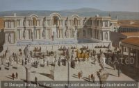 Laodicea, The Nymphaeum of Septimius Severus, Facing the Main Forum, around 200 AD - Archaeology Illustrated