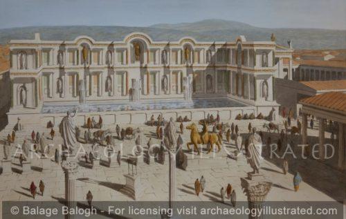 Laodicea, The Nymphaeum of Septimius Severus, Facing the Main Forum, around 200 AD - Archaeology Illustrated