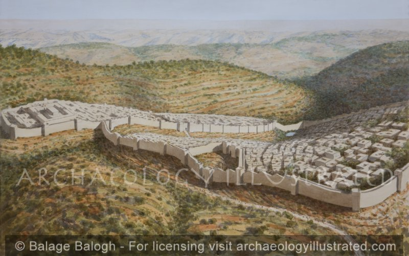 Jerusalem, The Northern City Gate, the Main Entrance into the City, 1st Temple Period, Looking Southeast - Archaeology Illustrated