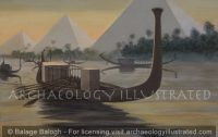 Khufu's Solar Barge, aka The Giza Boat, around 2500 BC - Archaeology Illustrated