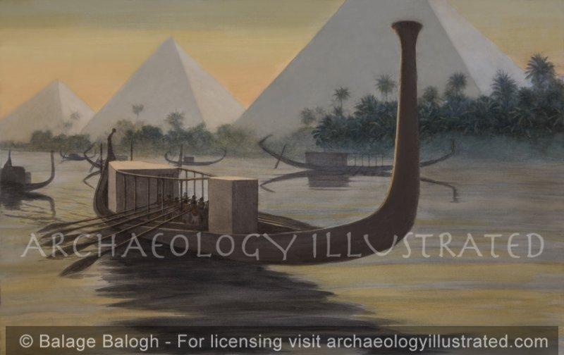 Khufu's Solar Barge, aka The Giza Boat, around 2500 BC - Archaeology Illustrated