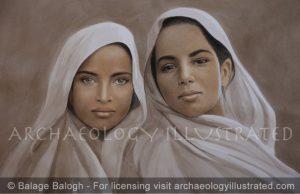 Kushan Girls - Archaeology Illustrated