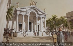 Roman Damascus, The Propylaea (Main Entrance) of the Temple of Jupiter and Hadad, 2nd century AD - Archaeology Illustrated