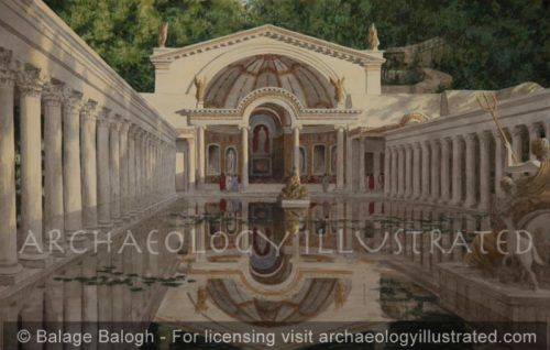 Tivoli, East of Rome, Hadrian's Villa, The Serapeon, 130 AD - Archaeology Illustrated