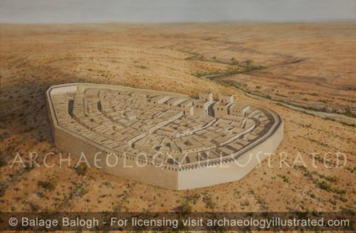 Beersheva in the 8-7th Centuries BC, Looking Southeast - Archaeology Illustrated