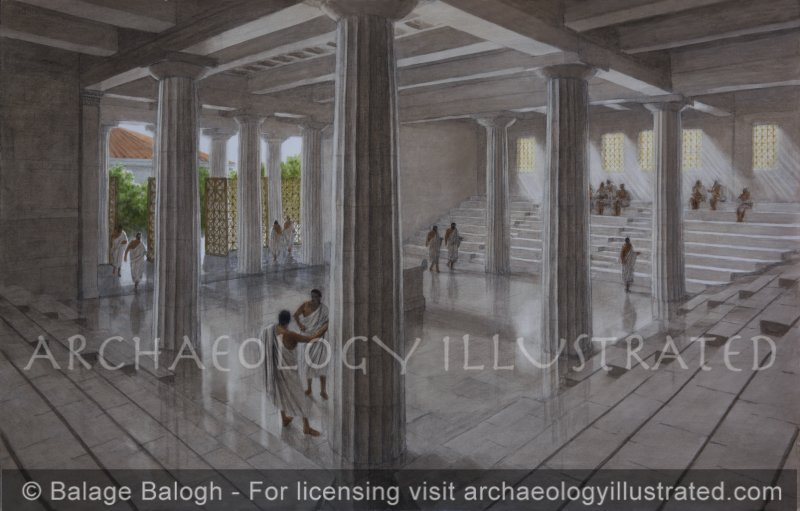 Birthplace of Democracy, Ancient Athens, The Old Bouleterion, or Council House, Early 5th Century BC, - Archaeology Illustrated