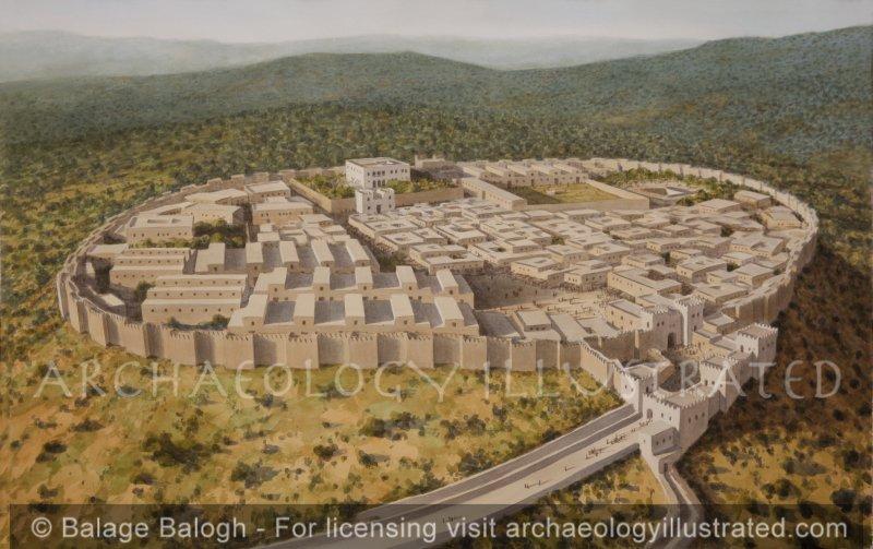 Megiddo, Stratum IV-V, 9-8th Century BC, Looking Southwest - Archaeology Illustrated
