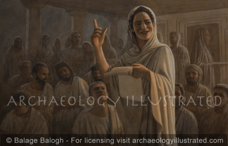 Phoebe Reading Paul's Letter to the Roman Christian Community - Archaeology Illustrated