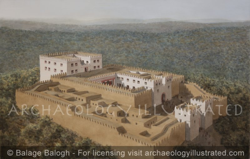 Ramat Rachel, South of Jerusalem, North of Bethlehem, A Fortified Country Manor, 7th Century BC, Looking Northwest - Archaeology Illustrated