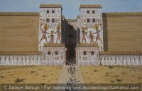 Fortified Gate of Egyptian Fortress of Ramesses III at Medinet Habu, 12th century BC - Archaeology Illustrated