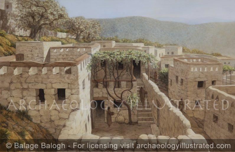 """Nazareth, Reconstruction of the Remains of a House under """"The Sisters of Nazareth Convent"""" Proposed to be that of Jesus' Childhood Home - Archaeology Illustrated"""