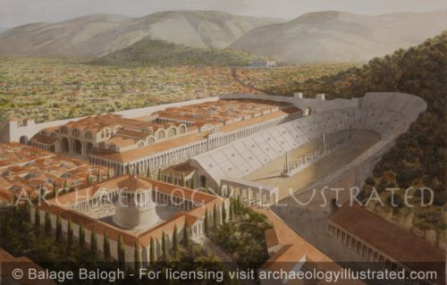 The Northern Quarter of Ephesus, The Vedius Bath and Gymnasium Complex, The Stadium and The Heroon. Temple of Artemis and Suburbs in the Distance - Archaeology Illustrated