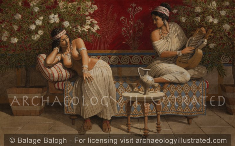 The Story Teller's Room in the Palace of Knossos, on the Island of Crete - Archaeology Illustrated