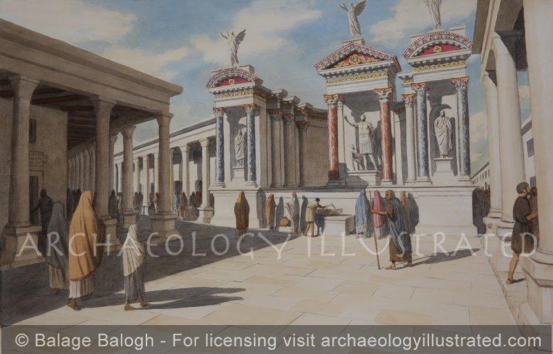 Laodicea, The Nymphaeum of Trajan on Stadium Street, Early 2nd Century AD - Archaeology Illustrated