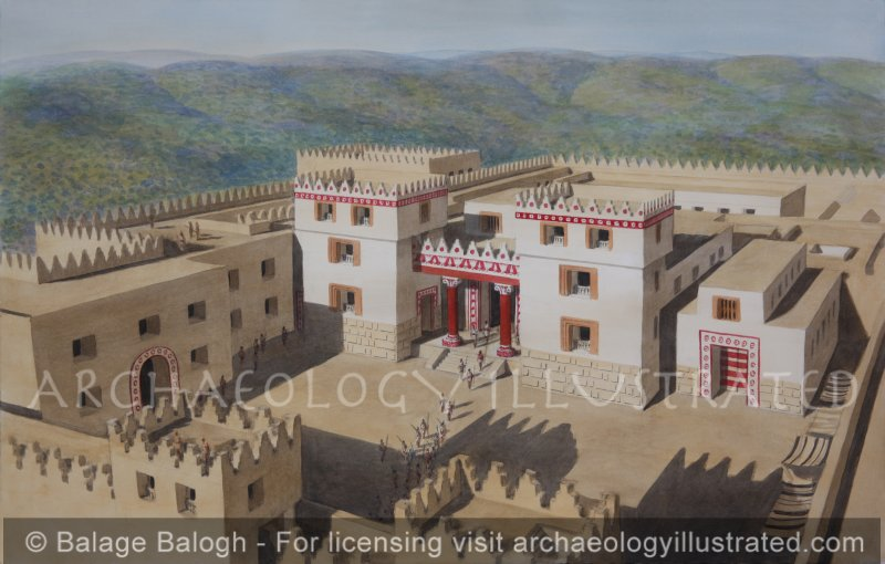 Samaria (Shomron), Ancient Capital of Israel, The Royal Audience Hall in the Palace of Omri and Ahab, 9th century BC. Facing West - Archaeology Illustrated