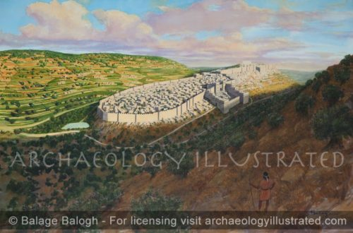 The City of David and the New Jerusalem in the Time of Solomon as Viewed from Southeast - Archaeology Illustrated