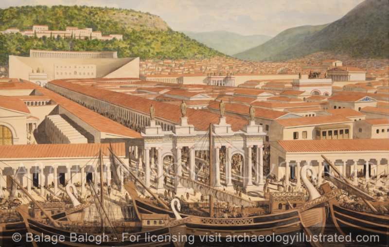 Ephesus, The Harbor Gate and City Center, 2nd Century AD - Archaeology Illustrated