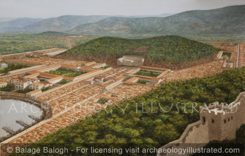 Ephesus, View of the City from the Southern Fortifications, 2nd century AD - Archaeology Illustrated