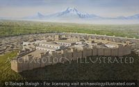 Erebuni, Ancient Yerevan, Capital of Armenia, and Mount Ararat, Kingdom of Urartu, in the 6-5th century BC, Persian Period, Facing Southwest - Archaeology Illustrated