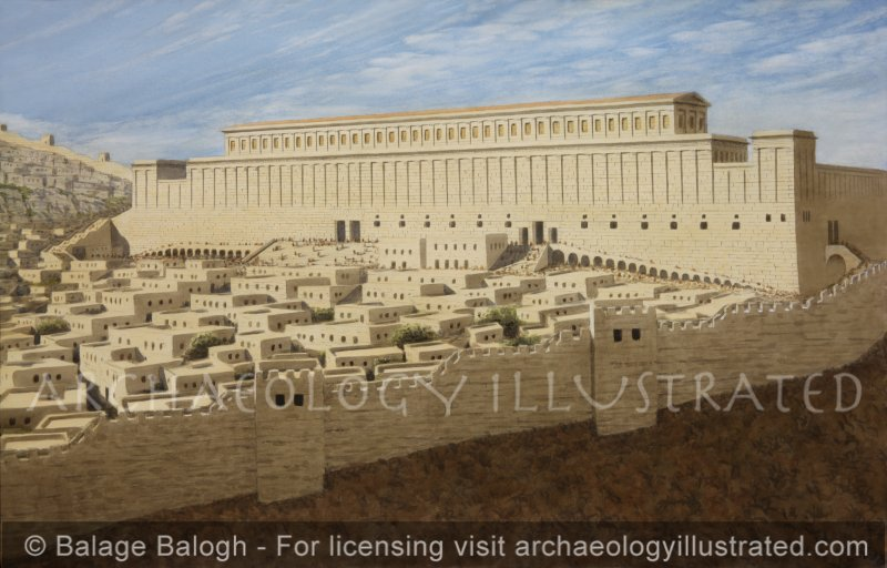 Jerusalem, The Second Temple: The South Wall of the Temple Mount and the Basilica of Herod the Great - Archaeology Illustrated