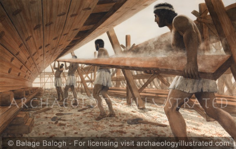 Phoenician Shipwrights at Work - Archaeology Illustrated
