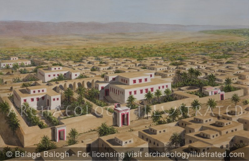 Tell el-Amarna, The North Neighborhood, The Estate of General Ramose in the Center, Facing Southeast, 14th century BC - Archaeology Illustrated
