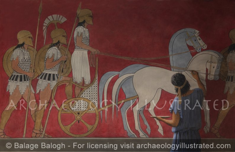 The Greek Mural Painter in the 5th Century BC - Archaeology Illustrated