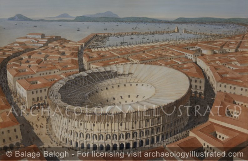 Ancient Puteoli, (today's Pozzuoli) and its Flavian Amphitheater in the Bay of Naples, Baiae Across the Bay and the Imperial Naval Base - Archaeology Illustrated