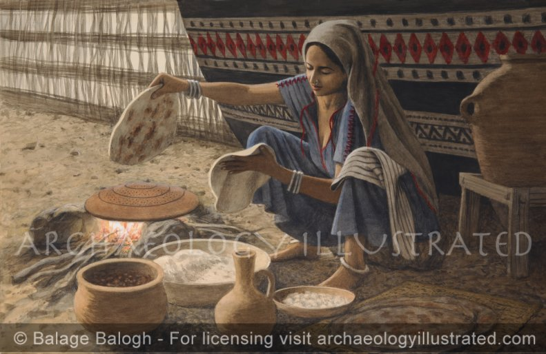 Baking Bread on a Makhabath (Griddle) in First Temple Period Israel - Archaeology Illustrated