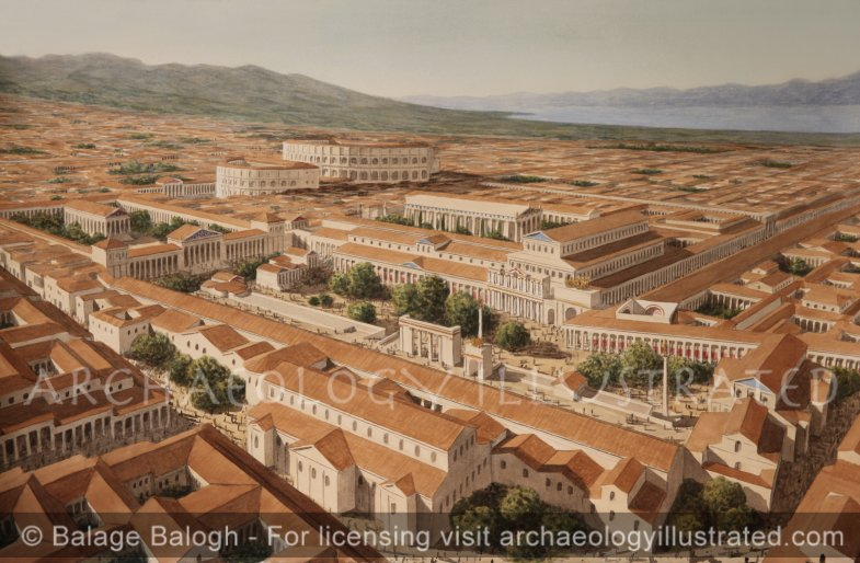 Corinth, Roman Period, The Forum, the Civic, Commercial, Religious and Entertainment Center, 2nd Century AD - Archaeology Illustrated
