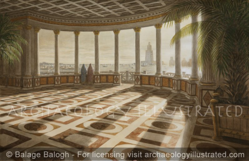 Alexandria, Cleopatra's Palace and the Pharos Light House in the Great Harbor of Alexandria, 1st Century BC - Archaeology Illustrated