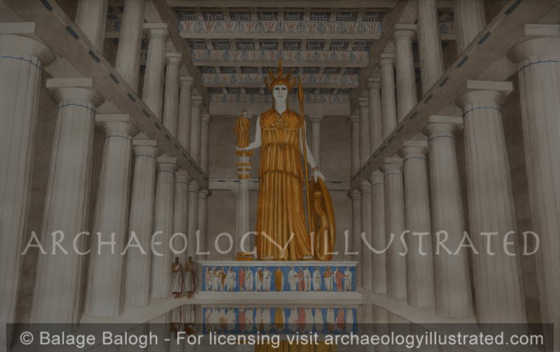 Athens, The Interior of the Parthenon with the Cult Image of Athena, 5th Century BC - Archaeology Illustrated