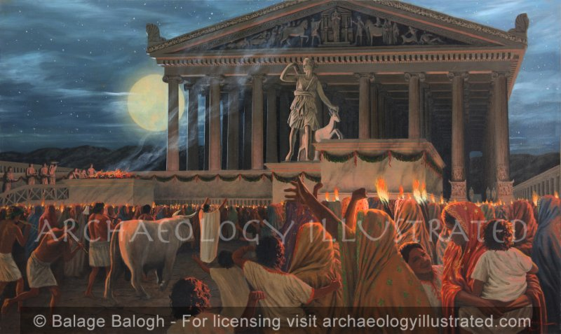 Ephesus, Festival at the Temple of Artemis - Archaeology Illustrated