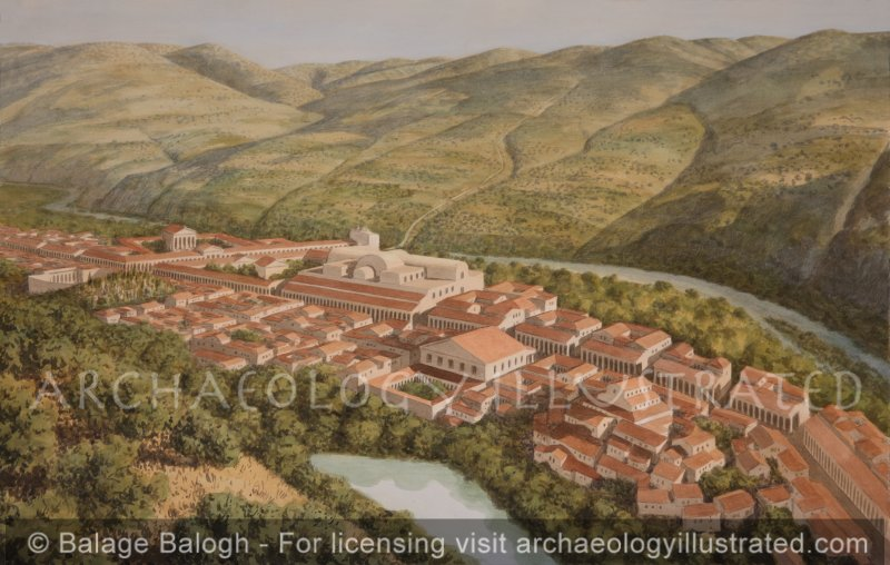 Hammat Gader and its Hot Spring Bath House on the Yarmouk River, Late Roman and Byzantine Period - Archaeology Illustrated
