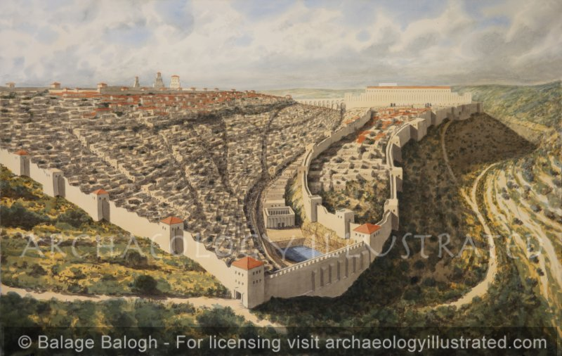 Jerusalem, 1st century AD, View from South - Archaeology Illustrated