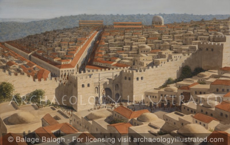 Jerusalem, Damascus Gate and Church of the Holy Sepulcher in the 4th Century AD through the Byzantine Period - Archaeology Illustrated